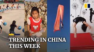 Trending in China: Kindergarten children's impressive basketball skills trend globally