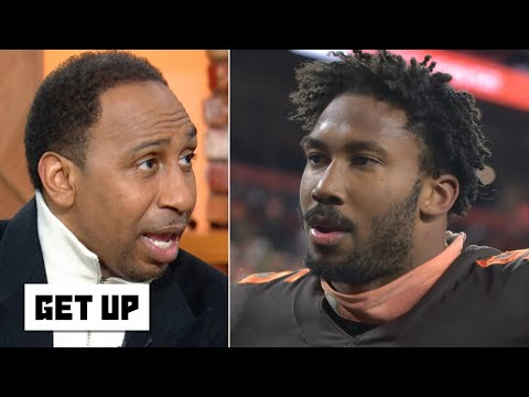 Stephen A. reacts to Myles Garrett's fight with Mason Rudolph: He's done for the season! | Get Up