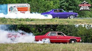 Trailer Burnouts, Rainy RACE CAR Road Trip & Carnage!