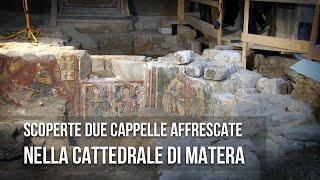 preview picture of video 'Matera. Le prime immagini delle Cappelle scoperte nella Cattedrale di Matera'