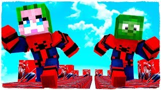 ABRIMOS LOS LUCKY BLOCKS DE SPIDERMAN EN MINECRAFT