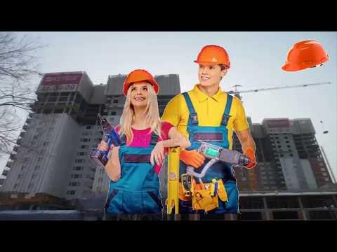 Красивое поздравление с днем строителя! онлайн видео