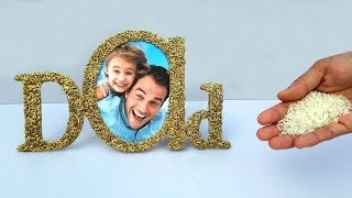 How To Make Unique Fathers Day Photo Frame At Home