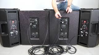 Musikanlage 4 - JBL Eon 612 & dbTechnologies SUB 618- Aufbau, Anschluss und Funktionen