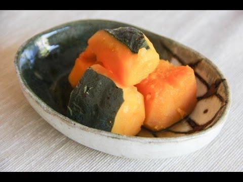 Kabocha no Nimono (Simmered Pumpkin) Recipe – Japanese Cooking 101