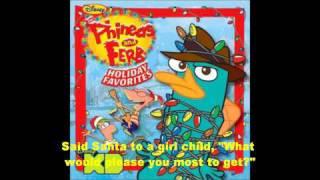 Phineas and Ferb Holiday Favorites -Run Rudolph Run Lyrics(HD)