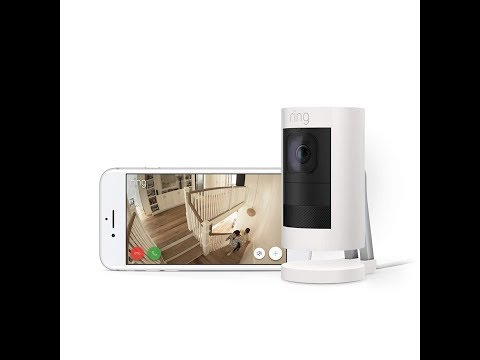 All new Ring Stick Up Cam Wired HD Security Camera with Two Way Talk and Siren, White, Wo