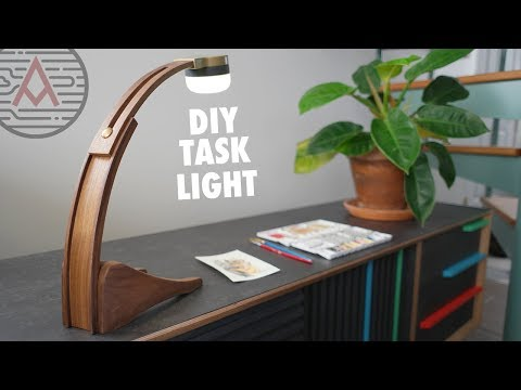 DIY Battery Powered LED Task Light — Design No. 2 — Woodworking