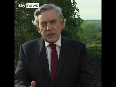 """Gordon Brown op de G7-top: """"Wij beslissen wie leeft en wie sterft"""" !"""