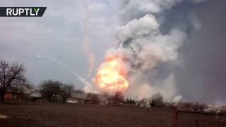 Massive fire breaks out at Ukraine