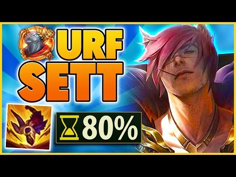 *URF IS BACK* THE FIRST URF SETT GAME ON YOUTUBE (1 SECOND COOLDOWNS) - BunnyFuFuu
