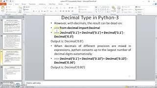 Python Programming 13 Decimal Type in Python