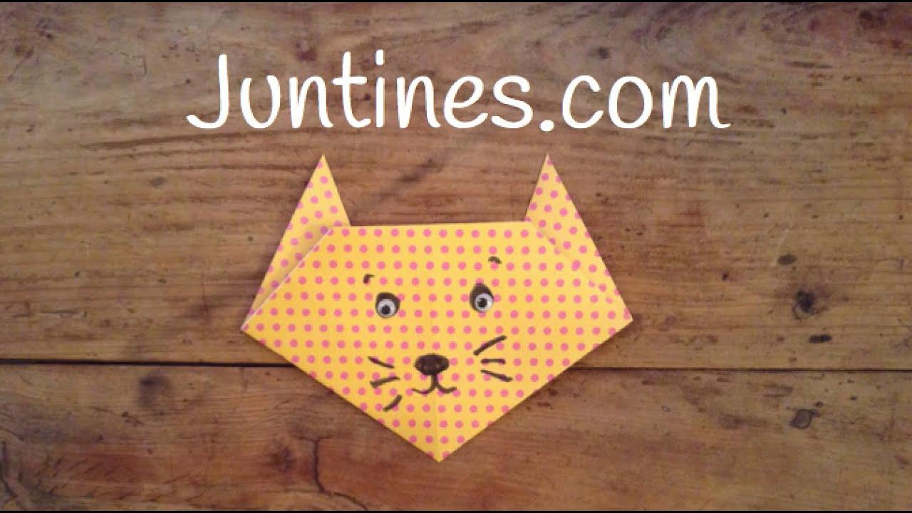 Gato de papel: Origami fácil