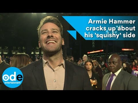 Armie Hammer cracks up about his 'squishy' side
