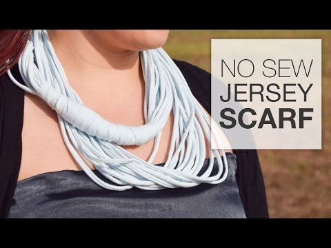 How to Make a No Sew Jersey Scarf