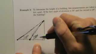Trig Applications - Example 3 - Angle Of Elevation