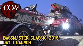 Bassmaster Classic 2016 boats launch Day 1- OOW Outdoors