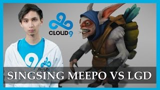 C9.Singsing epic Meepo gameplay vs LGD @ TI4