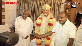Chandrababu Naidu meets HD Deve Gowda, intensifies EVM criticism