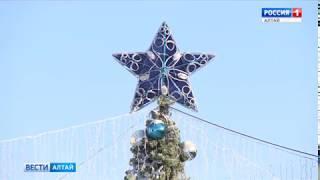 В Барнауле ледяной городок и ёлку на Мало-Тобольской оставят до наступления тепла
