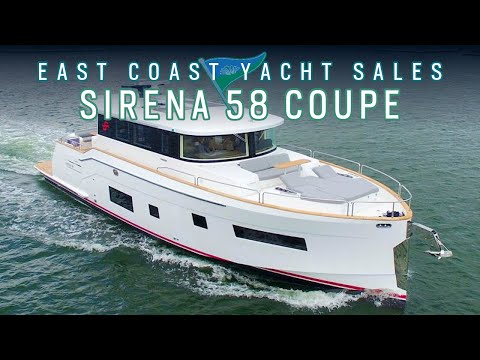 NEW MODEL: Sirena 58 COUPE {Walk Through tour with FORWARD MASTER layout}
