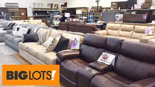 BIG LOTS SOFAS COUCHES SECTIONALS CONSOLES HOME FURNITURE SHOP WITH ME SHOPPING STORE WALK THROUGH