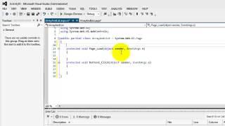 Beginner's Tutorial for ASP.NET 4.5 - 10-Arrays and Generics (using C#)