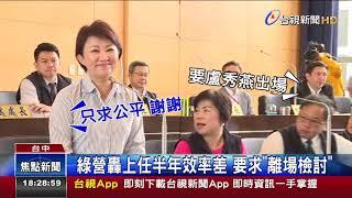 台中市議會首例盧秀燕舉紅牌請出場