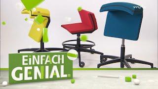 Multifunktions-Möbel: Bürostuhl für gesunde Körperhaltung | Einfach genial | MDR