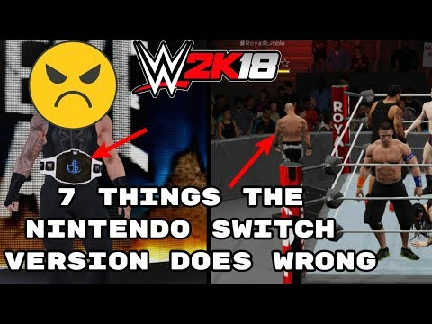 WWE 2K18: 7 Things The Nintendo Switch Does Horribly Wrong