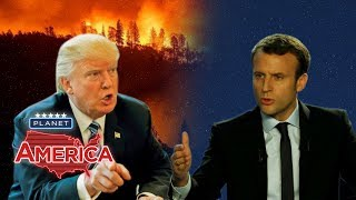 As California burns, the President spars with his European counterparts | Planet America