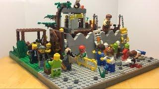 """Лего самоделка #30 на тему зомби апокалипсис """"лагерь бандитов"""""""