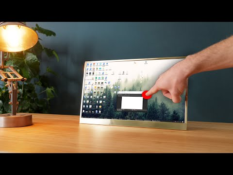 DIY USB-C Touch Monitor Is All Polished Brass