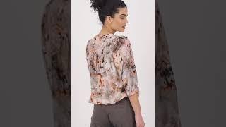 Vorschau: Leichte Bluse mit ¾ Arm und Allover Print