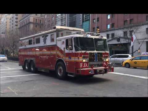 "COMPILATION OF FDNY RESCUE 1 ""ONLY"" RESPONDING IN VARIOUS NEIGHBORHOODS OF MANHATTAN, NEW YORK.  02 Mp3"