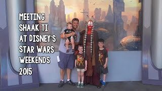 Meeting Shaak Ti at Disney Star Wars Weekends 2015
