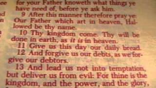 The Lord's Prayer from the King James Bible