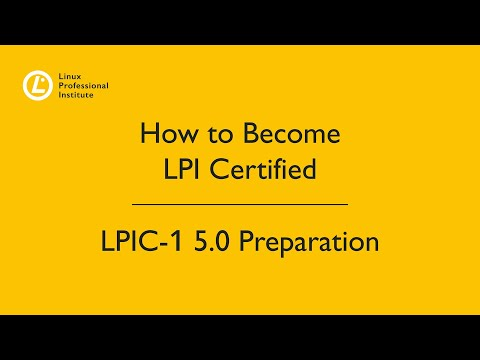 Linux Professional Institute LPIC-1 5.0 Preparation Webinar with ...