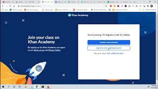 How to Join a Khan Academy Class