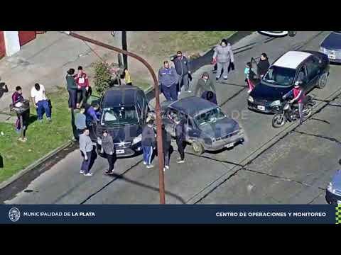 Triple choque y fuga en Tolosa