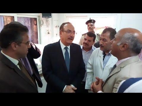 محافظ بني سويف يتفقد حضانة مستشفى ناصر المركزي بعد تشغيلها مرة أخرى
