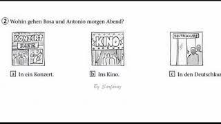 German exam A1 Listening part 2 texts from 0 to 2 Start deutsch