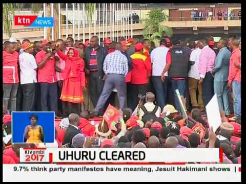 President Uhuru Kenyatta woos voters after being cleared by IEBC to run for a second term