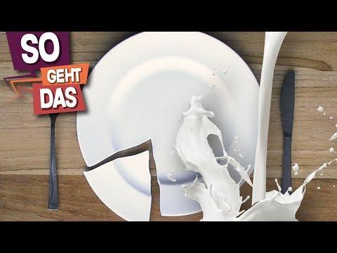 Kann man einen Teller mit Milch reparieren? - Fake Check