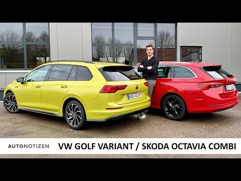 VW Golf Variant oder Skoda Octavia Combi? Kompakte Kombis im Vergleich, Test, Review / 2021