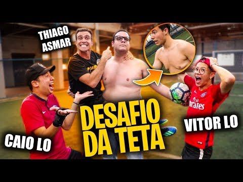 O GOLEIRO QUE DEFENDE AS BOLAS COM A TETA!!! feat. PILHADO - DESAFIOS DE FUTEBOL
