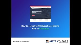 How to setup StartKit WordPress theme with in 5 minutes