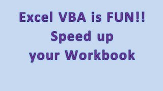 How to Speed Up Your Workbook - My SECRET EXCEL WEAPON