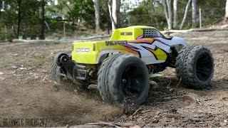 FS RACING 1/10 Brushless 4WD Monster Truck - Bash Session Plus Durability Montage!