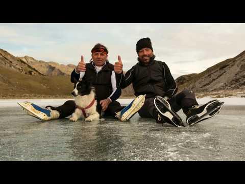 Ice skating lago Branchino